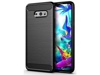 LG G8X ThinQ Carbon Gummi Hülle TPU Case Cover flexibel schwarz