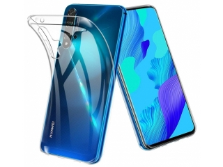 Huawei Nova 5T Gummi Hülle flexibel dünn transparent thin clear