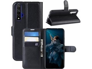 Huawei Nova 5T Leder Hülle Portemonnaie Karten Ledertasche schwarz