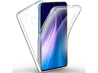 360 Grad Xiaomi Redmi Note 8 Touch Case Transparent TPU Rundumschutz