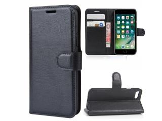 iPhone 6 Leder Hülle Portemonnaie Karten Ledertasche schwarz