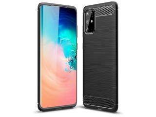 Samsung Galaxy S20+ Carbon Gummi Hülle TPU Case Cover flexibel schwarz
