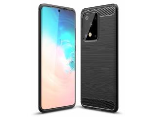 Samsung Galaxy S20 Ultra Carbon Gummi Hülle TPU Cover flexibel schwarz