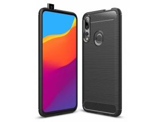 Huawei P Smart Z Carbon Gummi Hülle TPU Case Cover flexibel schwarz