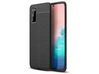 Samsung Galaxy S20 Leder Design Gummi Hülle TPU Case Cover schwarz