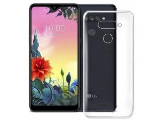 LG K50S Gummi Hülle flexibel dünn transparent thin clear