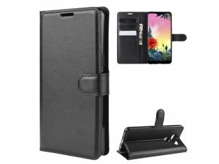 LG K50S Leder Hülle Portemonnaie Karten Ledertasche schwarz