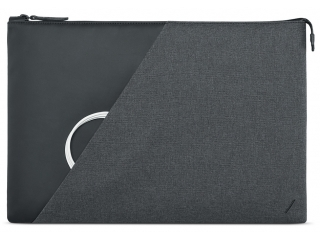 "Native Union Stow MacBook Pro 16"" Sleeve aus Echtleder & Textil grau"
