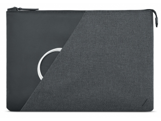 "Native Union Stow MacBook Pro / Air 13"" Sleeve Echtleder & Textil grau"