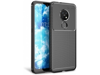 Nokia 7.2 Carbon Design Hülle TPU Case Cover flexibel schwarz