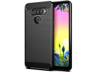 LG K50S Carbon Gummi Hülle TPU Case Cover flexibel schwarz