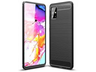 Samsung Galaxy A51 Carbon Gummi Hülle TPU Case Cover flexibel schwarz