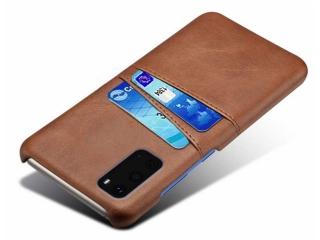 Samsung Galaxy S20 Ultra Leder Case Hülle Bank Kreditkarten braun