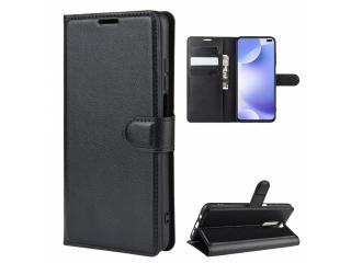 Xiaomi Redmi K30 Leder Hülle Portemonnaie Karten Ledertasche schwarz