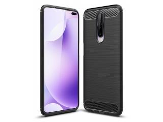 Xiaomi Redmi K30 Carbon Gummi Hülle TPU Case Cover flexibel schwarz