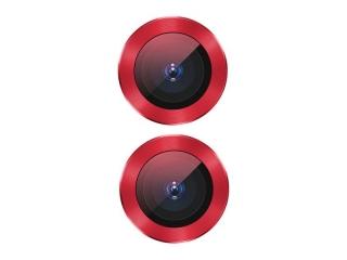 Baseus iPhone 11 Kameraschutz Panzerglas mit Alu Ring rot