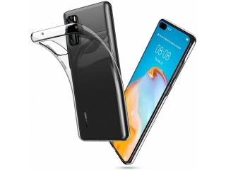 Huawei P40 Pro Gummi Hülle flexibel dünn transparent thin clear case