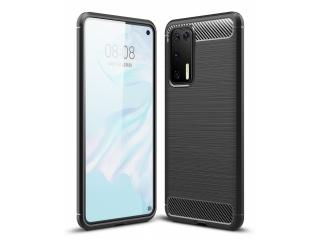 Huawei P40 Carbon Gummi Hülle TPU Case Cover flexibel schwarz