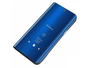 Samsung Galaxy A71 Flip Cover Clear View Flip Case transparent blau