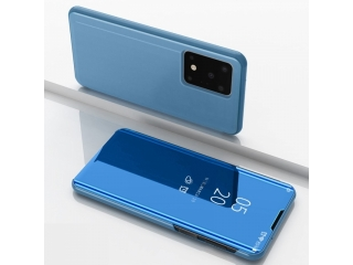 Samsung Galaxy S20+ Flip Cover Clear View Flip Case transparent blau
