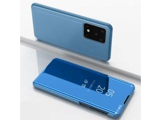 Samsung Galaxy S20 Ultra Flip Cover Clear View Case transparent blau