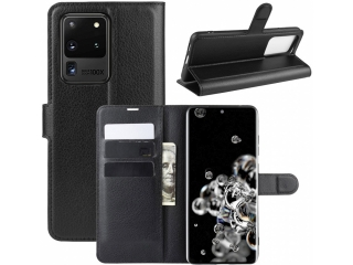 Samsung Galaxy S20 Ultra Leder Hülle Portemonnaie Karten Ledertasche