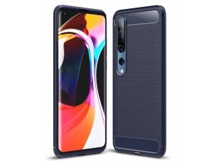 Xiaomi Mi 10 Pro 5G Carbon Gummi Hülle TPU Thin Case Cover navy blau