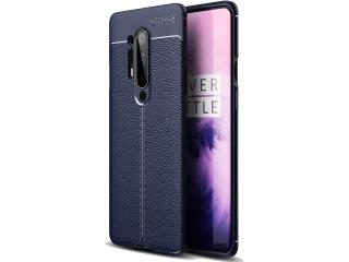 OnePlus 8 Pro Leder Design Gummi Hülle TPU Case Cover navy blau