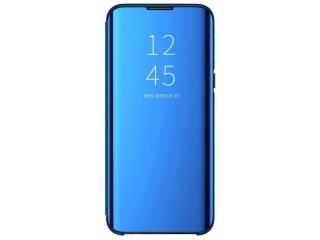 Xiaomi Mi 9 Flip Cover Clear View Flip Case transparent blau