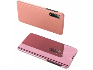Xiaomi Mi 10 Pro 5G Flip Cover Clear View Flip Case transparent rosa