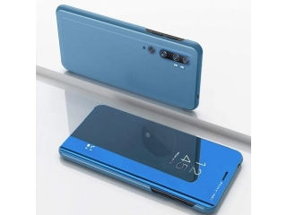 Xiaomi Mi Note 10 Flip Cover Clear View Flip Case transparent blau