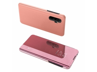 Xiaomi Mi Note 10 Flip Cover Clear View Flip Case transparent rosa