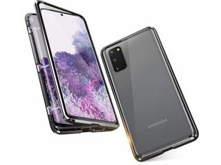 Samsung S20 Magnetische Alu Hülle Panzerglas Vorne & Hinten schwarz