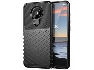 Nokia 5.3 Stripes Anti Shock Case Hülle flexible TPU Hülle schwarz
