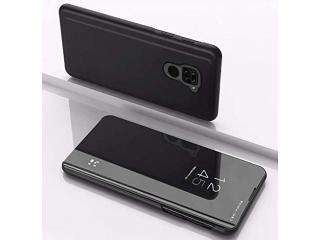 Xiaomi Redmi Note 9 Flip Cover Clear View Case tranparent schwarz