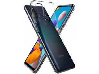 Samsung Galaxy A21s Gummi Hülle flexibel dünn transparent thin clear