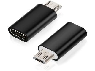 USB-C auf Micro-USB Adapter Konverter - Schwarz