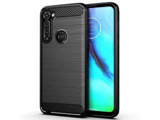 Motorola Moto G Pro Carbon Gummi Hülle TPU Case Cover flexibel schwarz