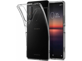 Sony Xperia 1 II Gummi Hülle flexibel dünn transparent thin clear case
