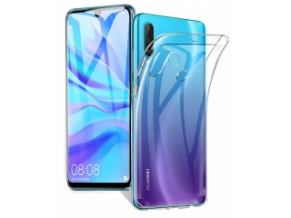 Huawei P40 Lite E Gummi Hülle flexibel dünn transparent thin clear