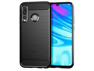 Huawei P40 Lite E Carbon Gummi Hülle TPU Case Cover flexibel schwarz