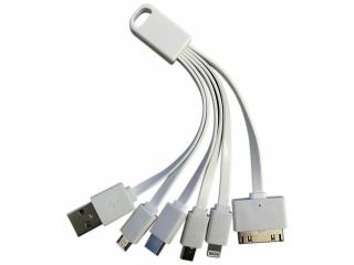 Kurzes USB Ladekabel Lightning, USB-C, MicroUSB, Mini, 30-Pin weiss