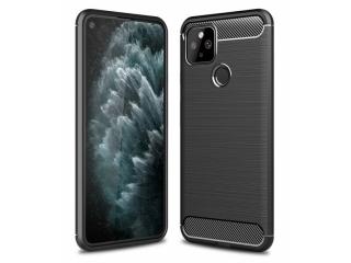 Google Pixel 5 Carbon Gummi Hülle TPU Case Cover flexibel schwarz
