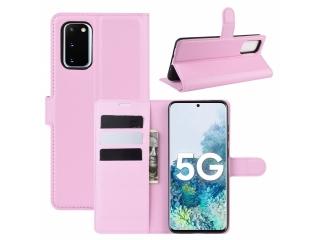 Samsung Galaxy S20 FE Leder Hülle Karten Ledertasche rosa