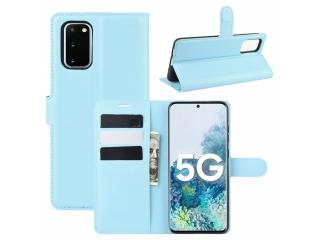 Samsung Galaxy S20 FE Leder Hülle Karten Ledertasche blau