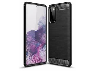 Samsung Galaxy S20 FE Carbon Gummi Hülle TPU Case flexibel schwarz