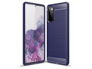 Samsung Galaxy S20 FE Carbon Gummi Hülle TPU Case flexibel navy blau