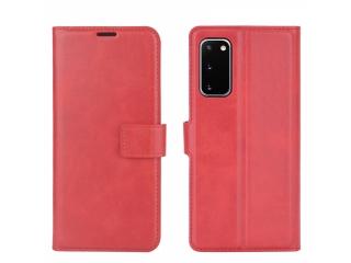 Samsung Galaxy S20 FE Leder Hülle Karten Ledertasche rot
