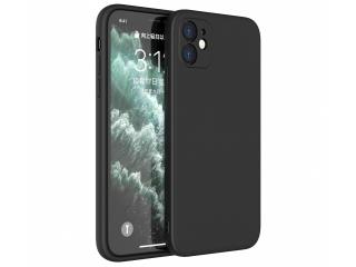 iPhone 12 Liquid Silikon Hülle Soft Case schwarz