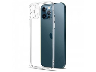 iPhone 12 Pro Gummi Hülle mit Kamera Objektiv Protector transparent